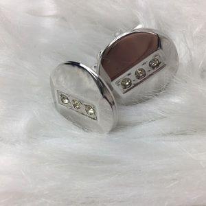 "Shields, 1/2"", silver tone, cufflinks, GUC."